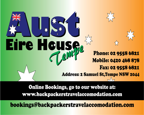Aust Eire House Tempe - Accommodation Sunshine Coast