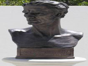 Adam Lindsay Gordon Bronze Bust - Accommodation Sunshine Coast