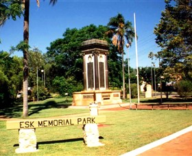 Esk War Memorial and Esk Memorial Park - Accommodation Sunshine Coast