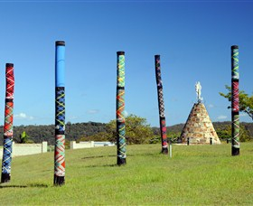 Maclean Tartan Power Poles - Accommodation Sunshine Coast