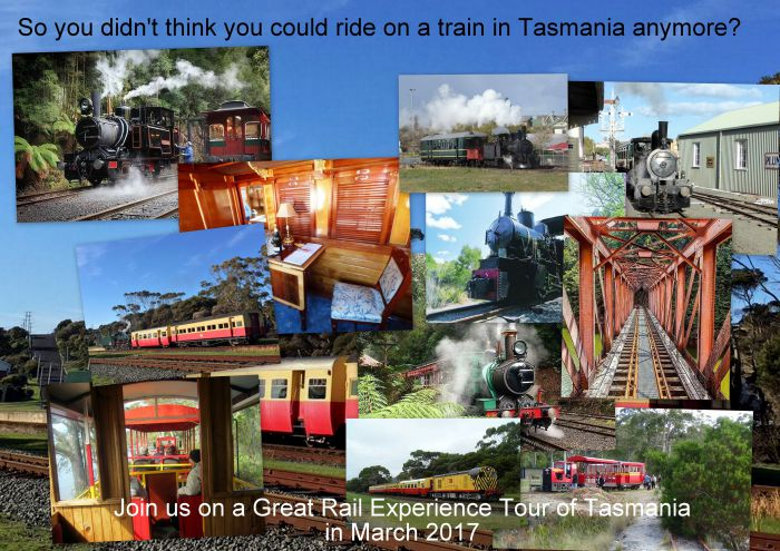 Great Rail Experiences  Tasmania Tour 2017 - Accommodation Sunshine Coast