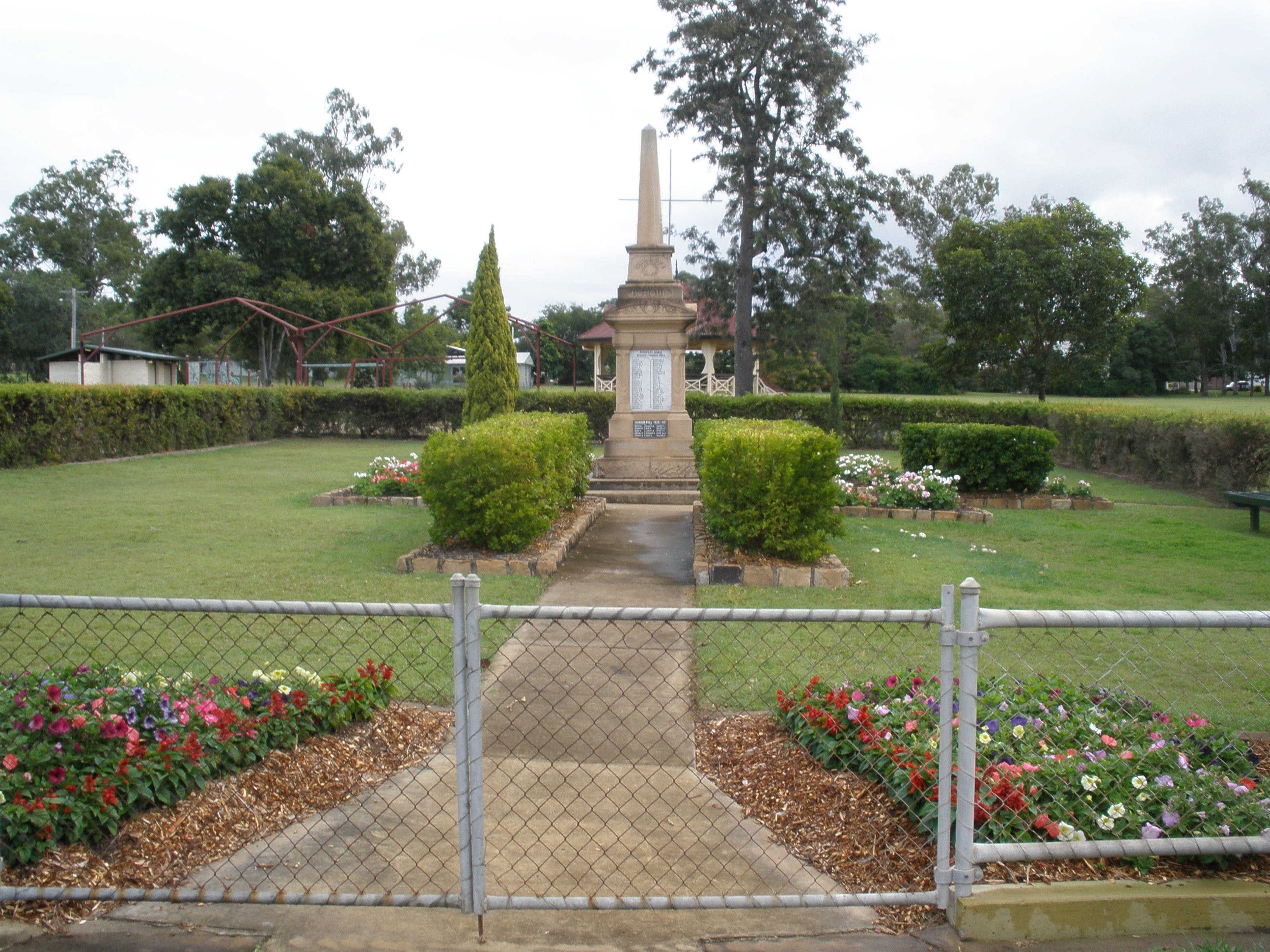 McConnell Park and Toogoolawah War Memorial - Accommodation Sunshine Coast