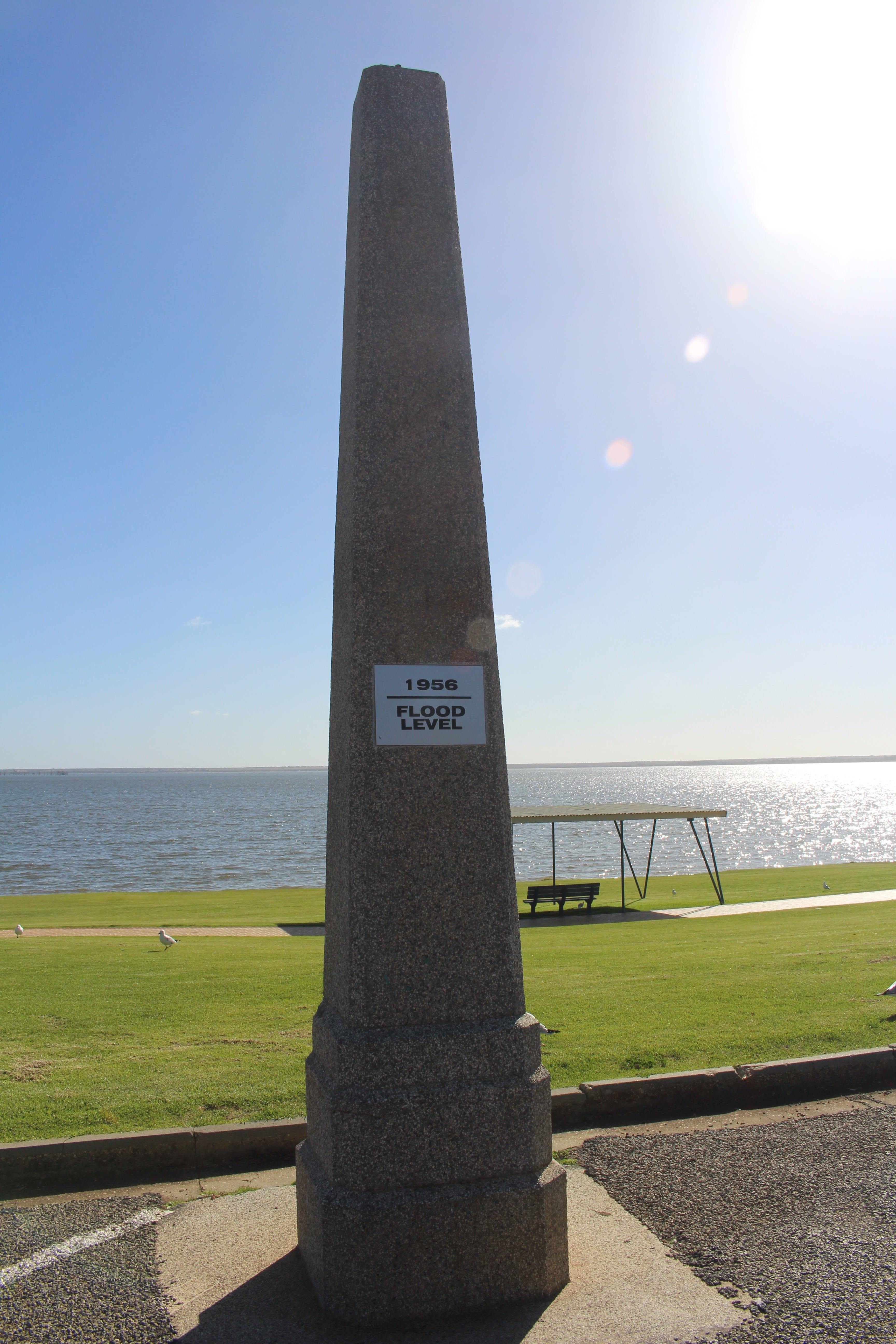 1956 Flood Marker - Accommodation Sunshine Coast