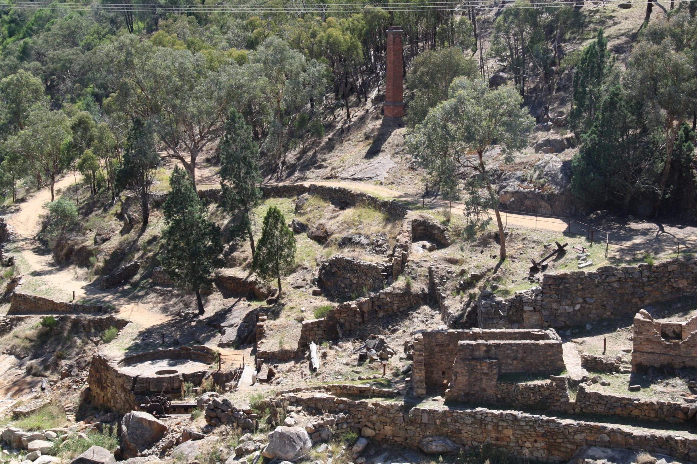 Adelong Falls Gold Mill Ruins - Accommodation Sunshine Coast