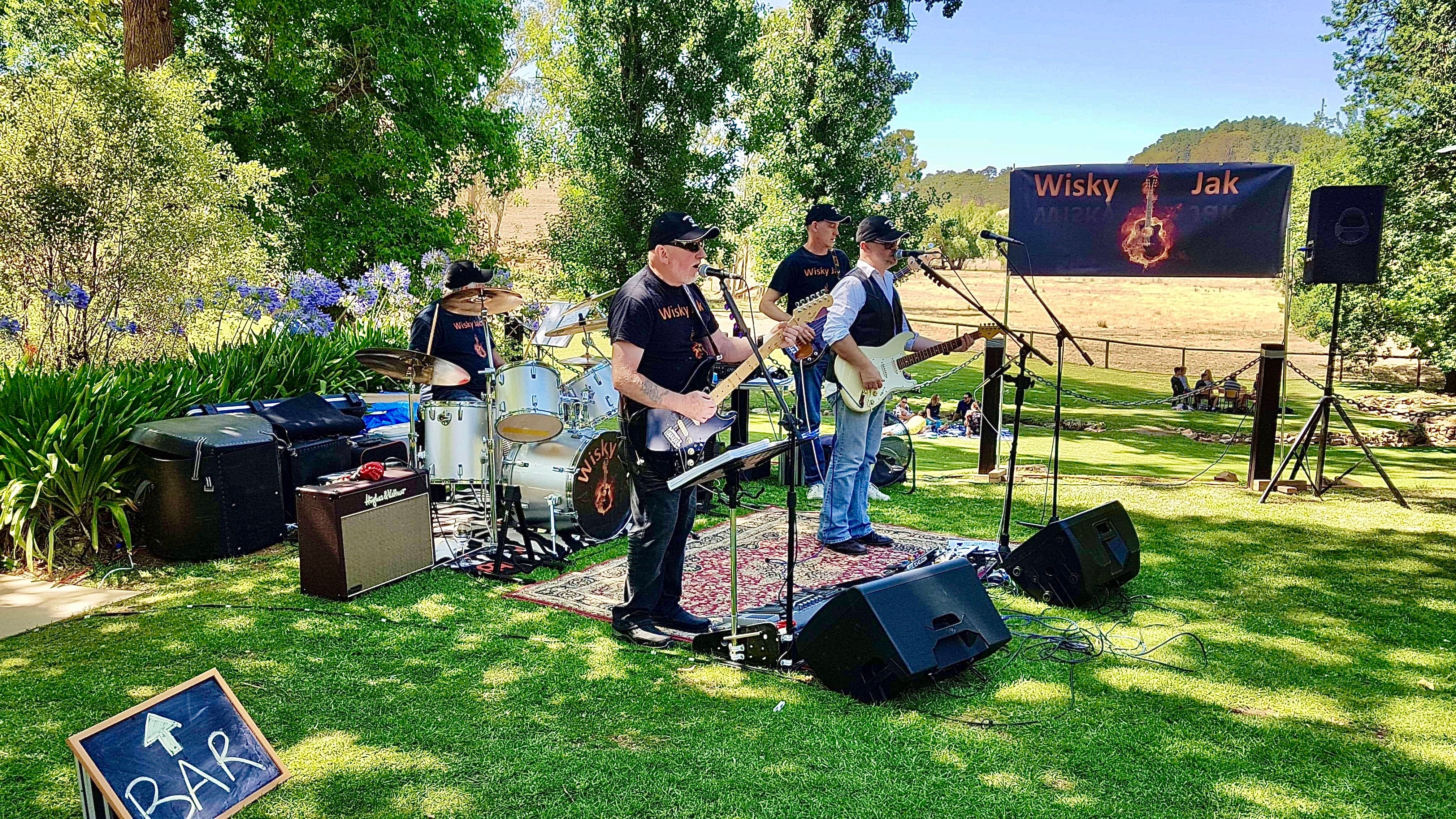 Angas Plains Wines Live in the Vines with the band -Wisky Jak - Accommodation Sunshine Coast