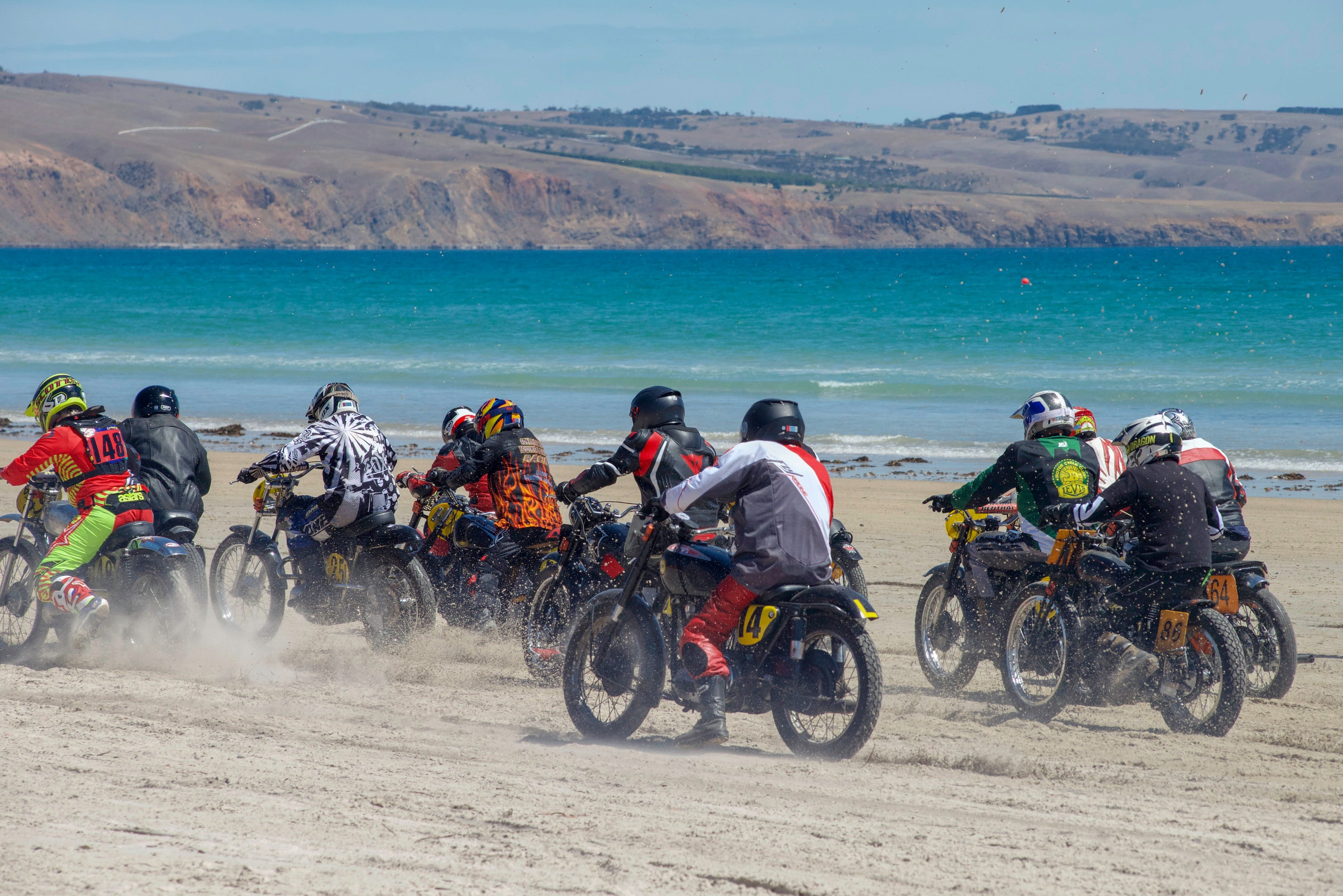 Sellicks Beach Historic Motorcycle Races - Accommodation Sunshine Coast