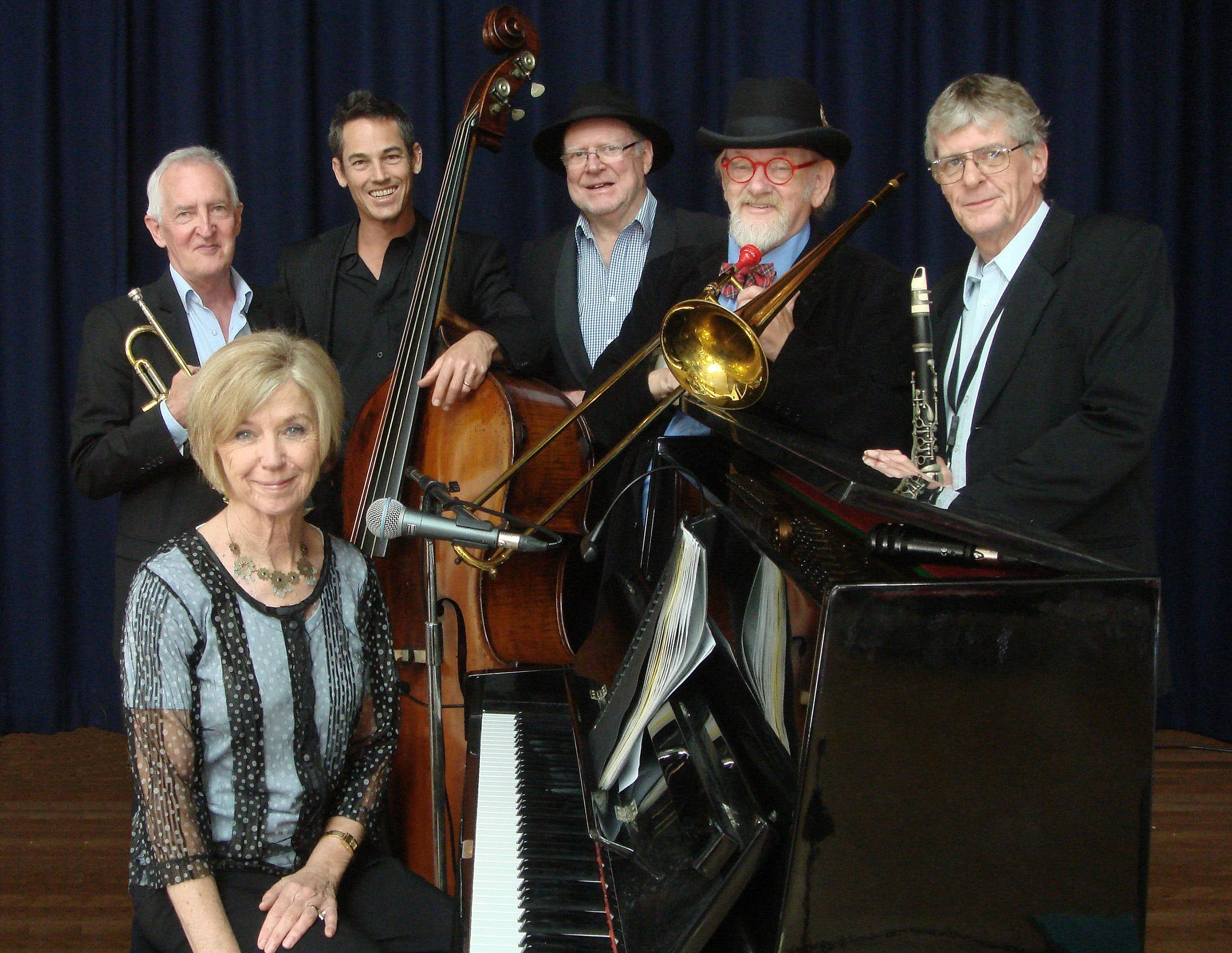 The Caxton Street Jazz Band in the Swigmore Hall at Robert Channon Wines - Accommodation Sunshine Coast
